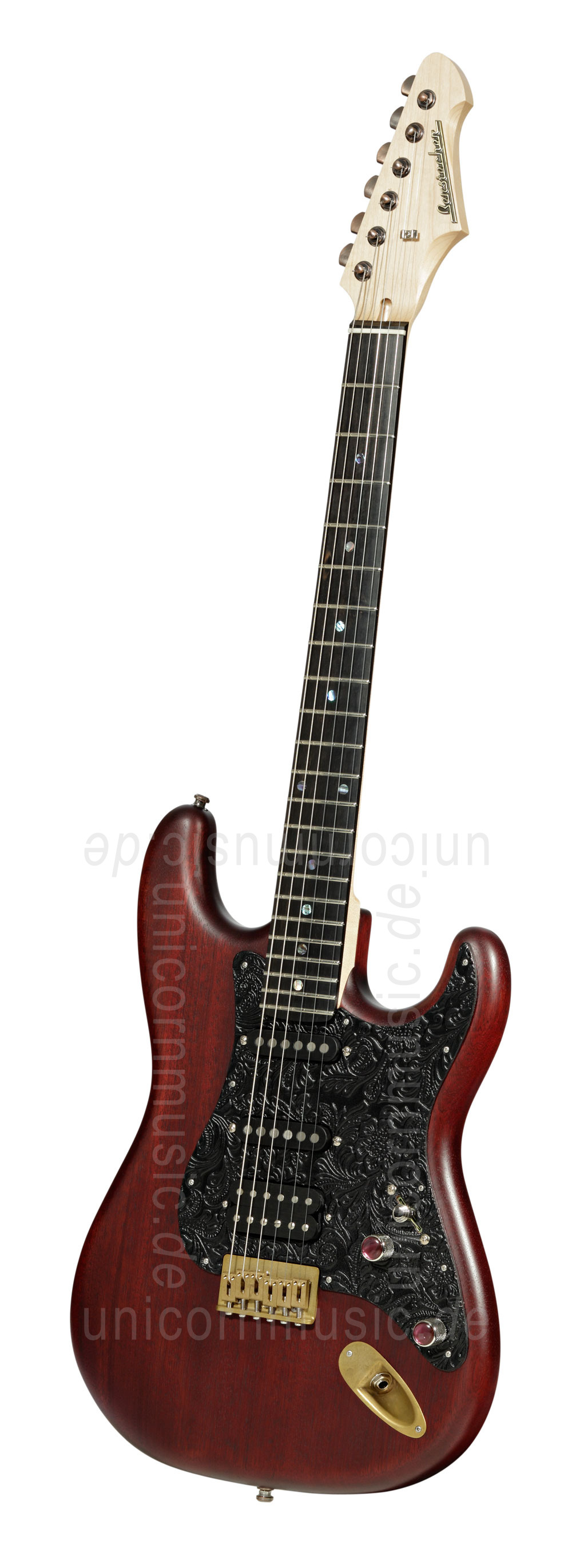 to article description / price Electric Guitar BERSTECHER Vintage 2018 - Black Cherry / Floral Black + hard case - made in Germany