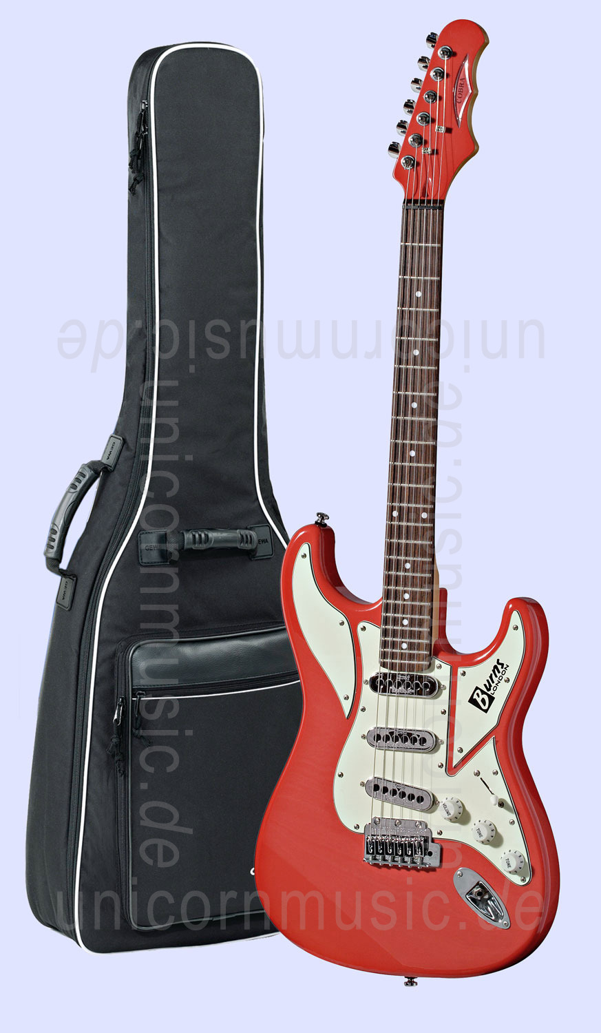 to article description / price Electric Guitar BURNS COBRA - guards red or other colours