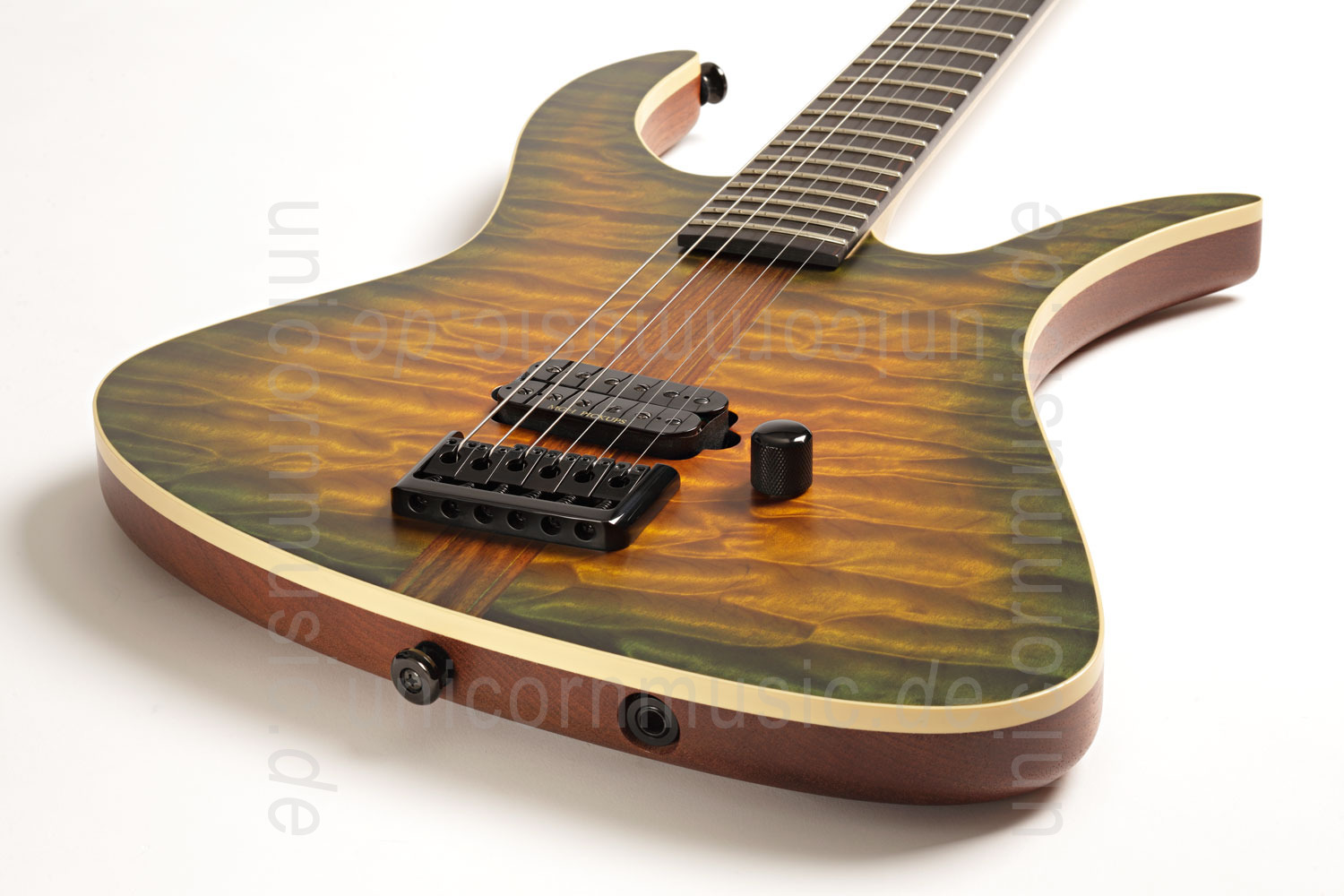 to article description / price Electric MGH GUITARS Blizzard Beast Deluxe - green amber burst + softcase - made in Germany