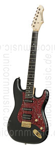 Large view Electric Guitar BERSTECHER Vintage 2018 - Black / Floral Red + hard case - made in Germany
