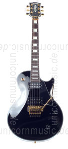 Large view Electric Guitar BURNY RLC 85S BLK FLOYD ROSE - BLACK + Sustainer