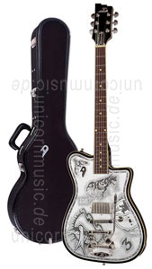 Large view Electric Guitar DUESENBERG JOHNNY DEPP Alliance Series - Black - Tremolo (2016) + custom line case
