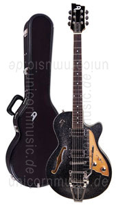 Large view Electric Guitar DUESENBERG STARPLAYER TV - Black Sparkle (2016) + Custom Line Case