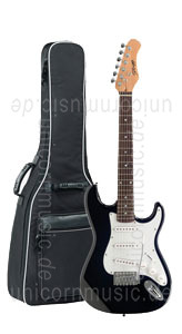 Large view Children's Electric Guitar STAGG S300 3/4 BK - also as a travel guitar for adults