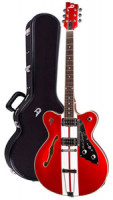 Electric Guitar DUESENBERG FULLERTON HOLLOW  MIKE CAMPBELL 2 - Candy Apple Red (2016) + Custom Line Case