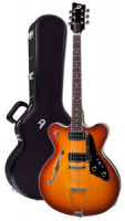 Electric Guitar DUESENBERG FULLERTON HOLLOW Series - Vintage Burst + Custom Line Case
