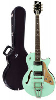 Electric Guitar DUESENBERG STARPLAYER TV - SURF GREEN + Custom Line Case
