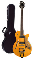 Electric Guitar DUESENBERG STARPLAYER TV - Trans-Orange + Custom Line Case