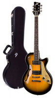 Electric Guitar DUESENBERG STARPLAYER TV -  Two Tone Sunburst - Stop Tailpiece + Custom Line Case