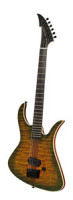 Electric MGH GUITARS Blizzard Beast Deluxe - green amber burst + softcase - made in Germany