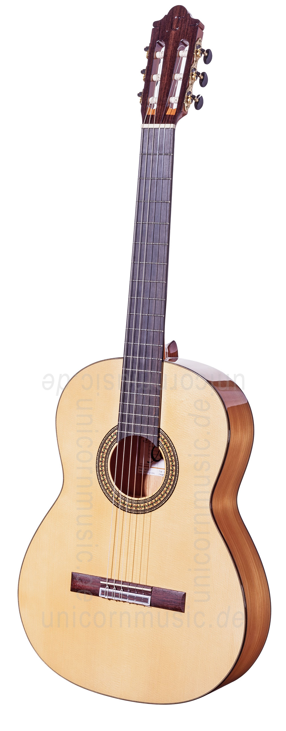 to article description / price Spanish Flamenco Guitar CAMPS M5-S (blanca) - solid spruce top