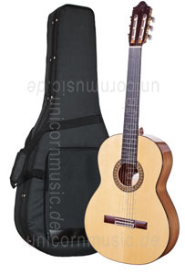 Large view Spanish Flamenco Guitar CAMPS M5-S-LH (blanca) - left hand - solid spruce top - Sandalwood