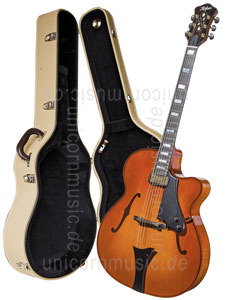 Large view Full-Resonance Archtop Jazz Guitar HOFNER CHANCELLOR HC-V-0 Gold Label + hardscase - Schellack - all solid