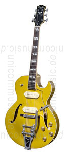 Large view Full-Resonance Archtop Jazz Guitar - PEERLESS PEERLESS GIGMASTER SC GOLD + hardcase