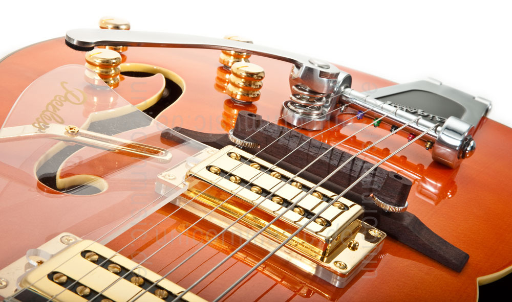 to article description / price Full-Resonance Archtop Jazz Guitar - TONEMASTER PLAYER Orange + hardcase