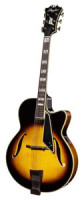 Full-Resonance Archtop Jazz Guitar - PEERLESS MONARCH + hardcase - all solid