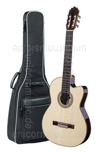 Large view Spanish Classical Guitar JOAN CASHIMIRA MODEL 130 Cutaway Thinline Spruce - without pickup - solid spruce top