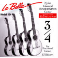Children's- Classical Guitar Strings Set 3/4 - LA BELLA 134 - normal Tension