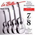 Children's- Classical Guitar Strings Set 7/8 - LA BELLA 178 - normal Tension