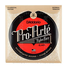 Large view Classical Guitar Strings - D'Addario EJ45 normal Tension. Packung mit 10x Sets