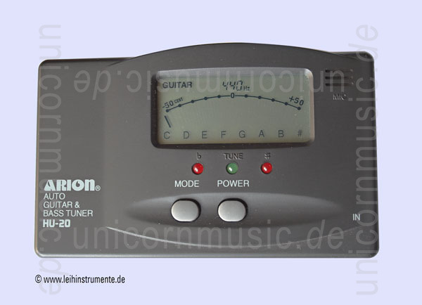 to article description / price Easy to use Guitar / Bass Tuner- ARION HU-20 + Battery