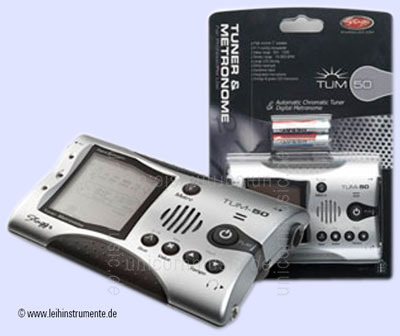to article description / price Tuner/Metronom STAGG TUM-50-RC - silver + rechargeable batteries