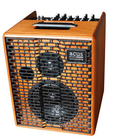 Large view Acoustic Amplifier - ACUS ONE 6T Wood - 4x channel (3x instrumental / independently controllable)