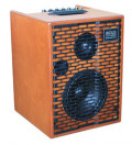 Acoustic Amplifier - ACUS ONE FOR STREET wood - 3x channel (2x Instrumental / independently controllable) - integrated battery