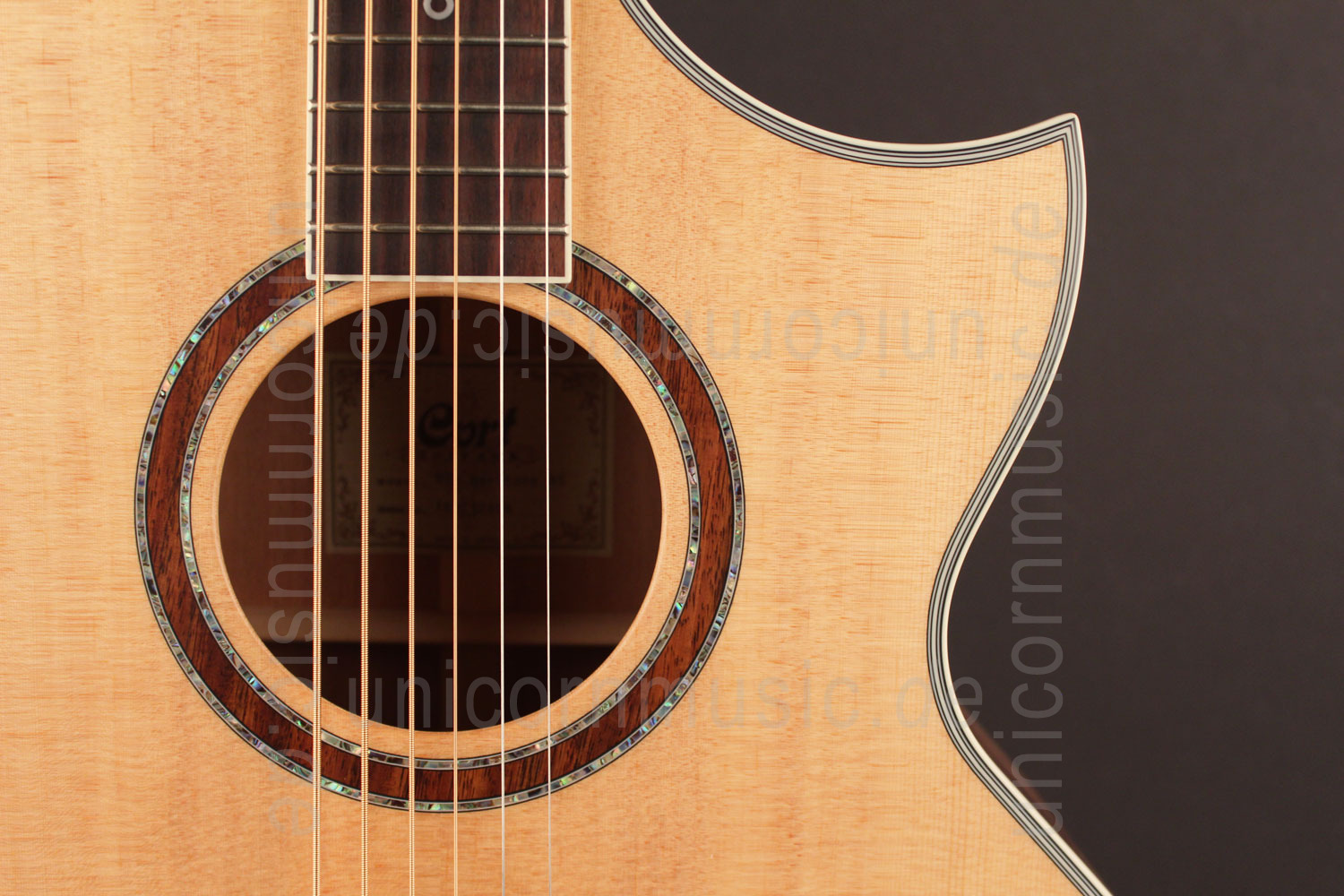 to article description / price Acoustic Guitar CORT NDX Baritone - Fishman Pickup - solid spruce top