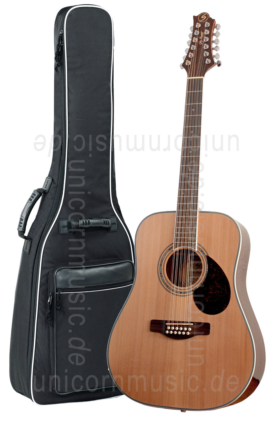 to article description / price Acoustic Guitar GREG BENNETT (SAMICK) D7/12 BEAUMONT - Dreadnought - 12 String - solid cedar top