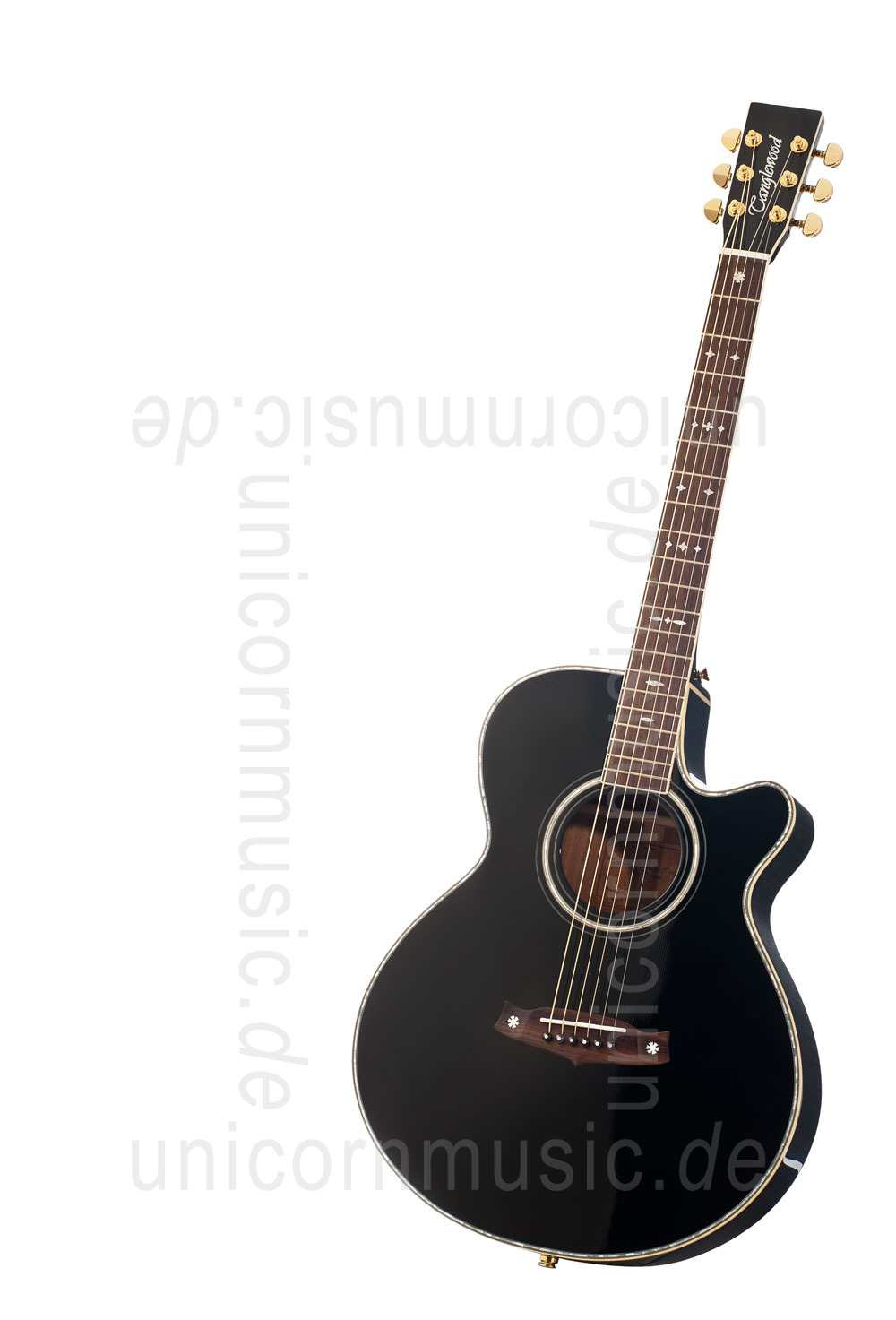 to article description / price Acoustic Guitar TANGLEWOOD TW49/BK DLX E - Sundance Series - Fishman Presys Plus EQ - Super Folk - Cutaway - solid top + back