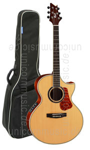 Large view Acoustic Guitar CORT NDX Baritone - Fishman Pickup - solid spruce top