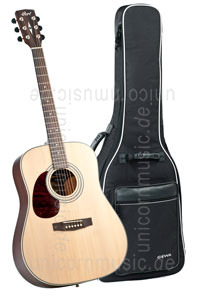 Large view Acoustic Guitar CORT EARTH 70 OP LH - Dreadnought - solid spruce top - left hand