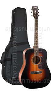 Large view Acoustic Guitar CORT EARTH 300VF SB - Fishman Sonitone EQ - Dreadnought - solid Adirondack spruce top + solid back