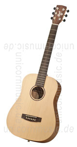 Large view Acoustic Guitar CORT EARTH MINI TRAVEL - Travelling Guitar- solid top + gigbag
