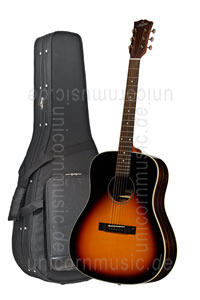 Large view Acoustic Guitar STANFORD DEJA VU SERIES DJ45 VB - Dreadnought - solid top + back
