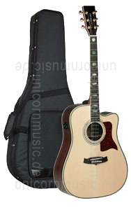 Large view Acoustic Guitar TANGLEWOOD TW1000/C E - Sundance Series -  Fishman Presys Plus EQ - Cutaway -  solid top