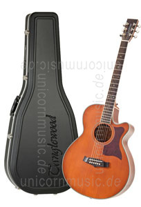 Large view Acoustic Guitar TANGLEWOOD TW45/NS E - Sundance Series - Fishman Presys Plus EQ - Super Folk - Cutaway - solid top + back - hardcase