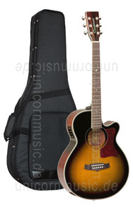 Large view Acoustic Guitar TANGLEWOOD TW45/VS E - Sundance Series - Fishman Presys Plus EQ - Super Folk - Cutaway - solid top + back