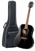 Acoustic Guitar CORT EARTH 100 BK - Dreadnought - solid spruce top
