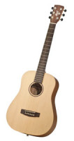 Acoustic Guitar CORT EARTH MINI TRAVEL - Travelling Guitar- solid top + gigbag