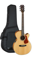 Acoustic Guitar Cort LUCE 100F NS - Super Folk - Pickup - Cutaway - solid spruce top