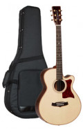Acoustic Guitar TANGLEWOOD TW45/H SR E - Heritage Series - Super Folk - Fishman Sonitone - Cutaway - all solid